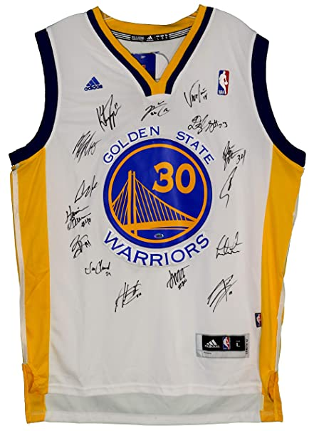 Image Unavailable. Image not available for. Color  Golden State Warriors  2015-16 Team Autographed Signed White Jersey ... 21869c5e8