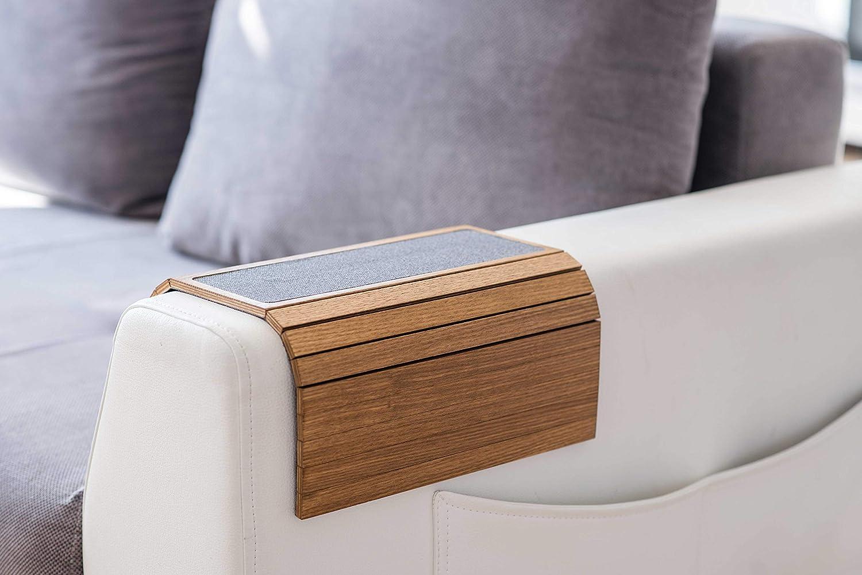 Ewart Woods Holz Sofa Arm Tablett Protektoren Armlehne Tisch Sofa Tisch Coaster Stoff