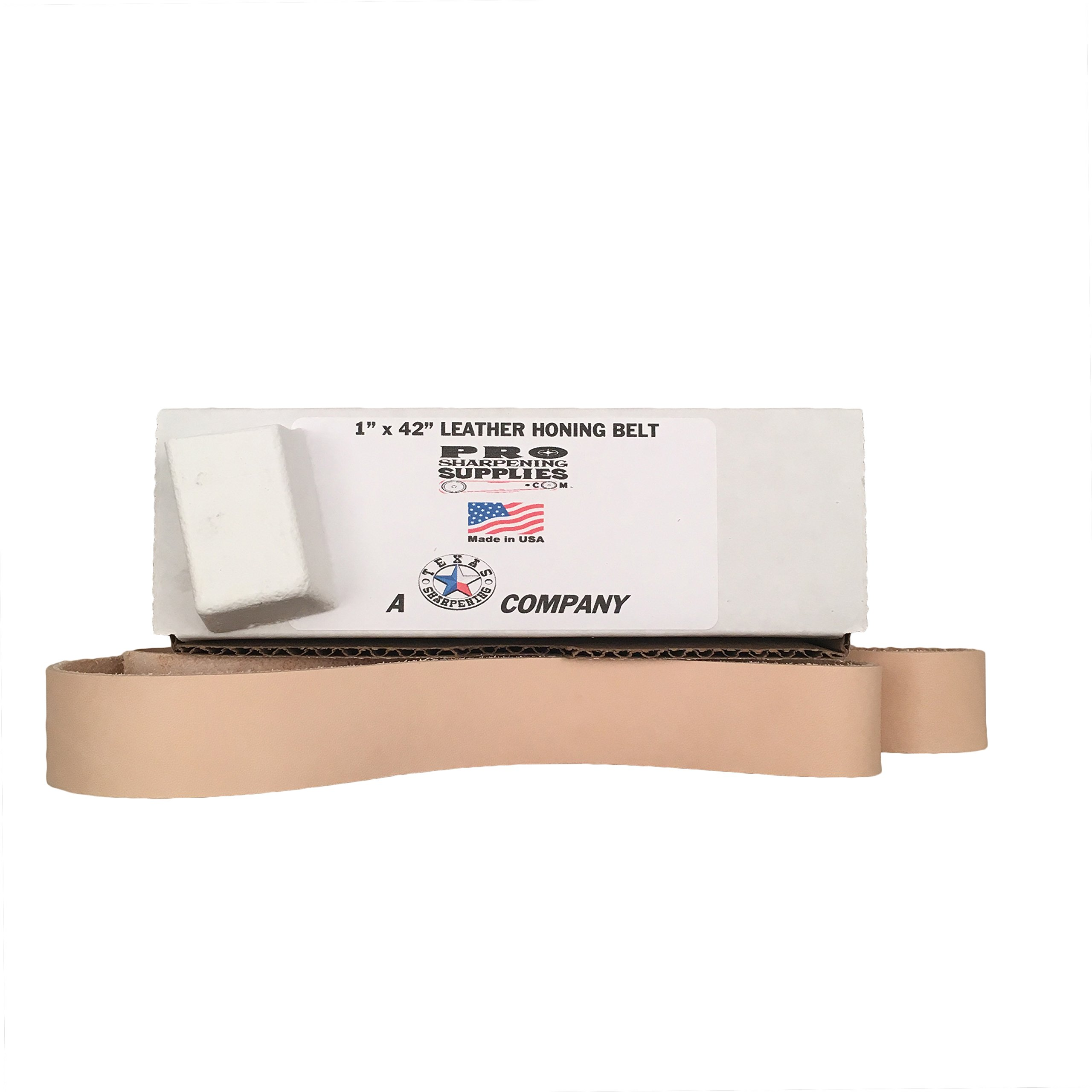 1x42 Leather Strop Belt - Buffing Compound Included - Pro Sharpening Supplies