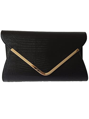 Black Envelope Clutch Bag, Evening Bag, Oversized, Ladies Black ...