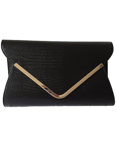 Black Envelope Clutch Bag, Evening Bag, Oversized, Ladies Black ...