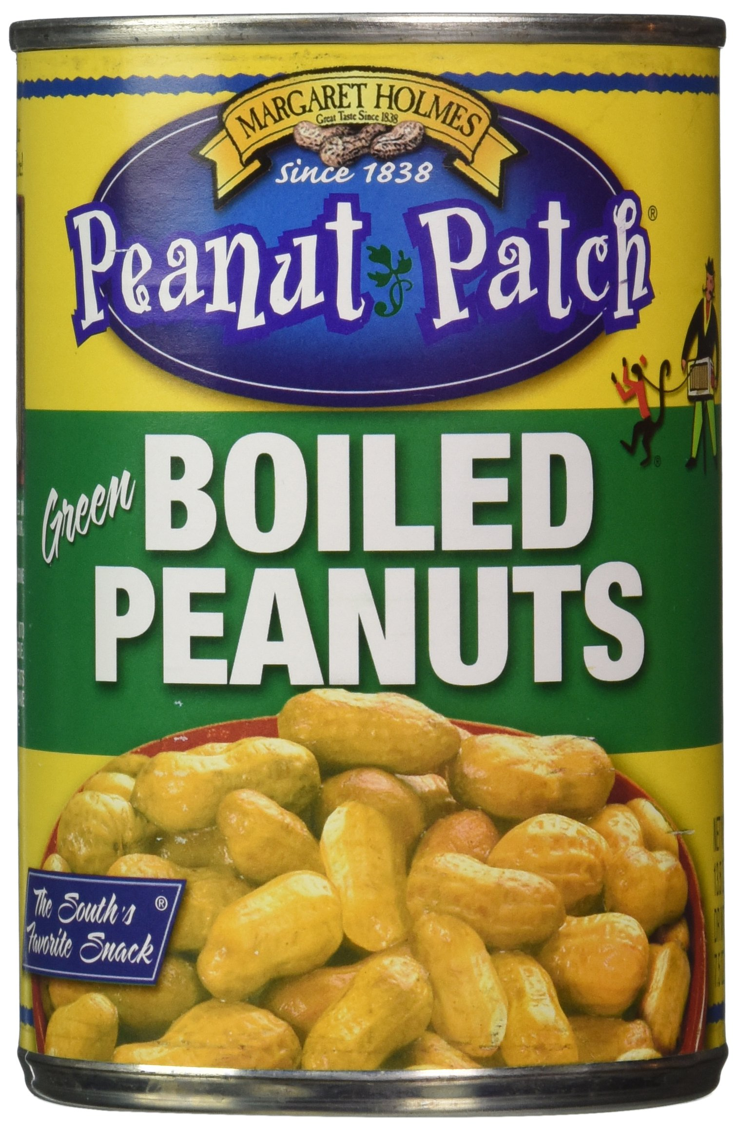 Margaret Holmes, Green Boiled Peanuts, 13.5oz Cans (Pack of 12) by Margaret Holmes