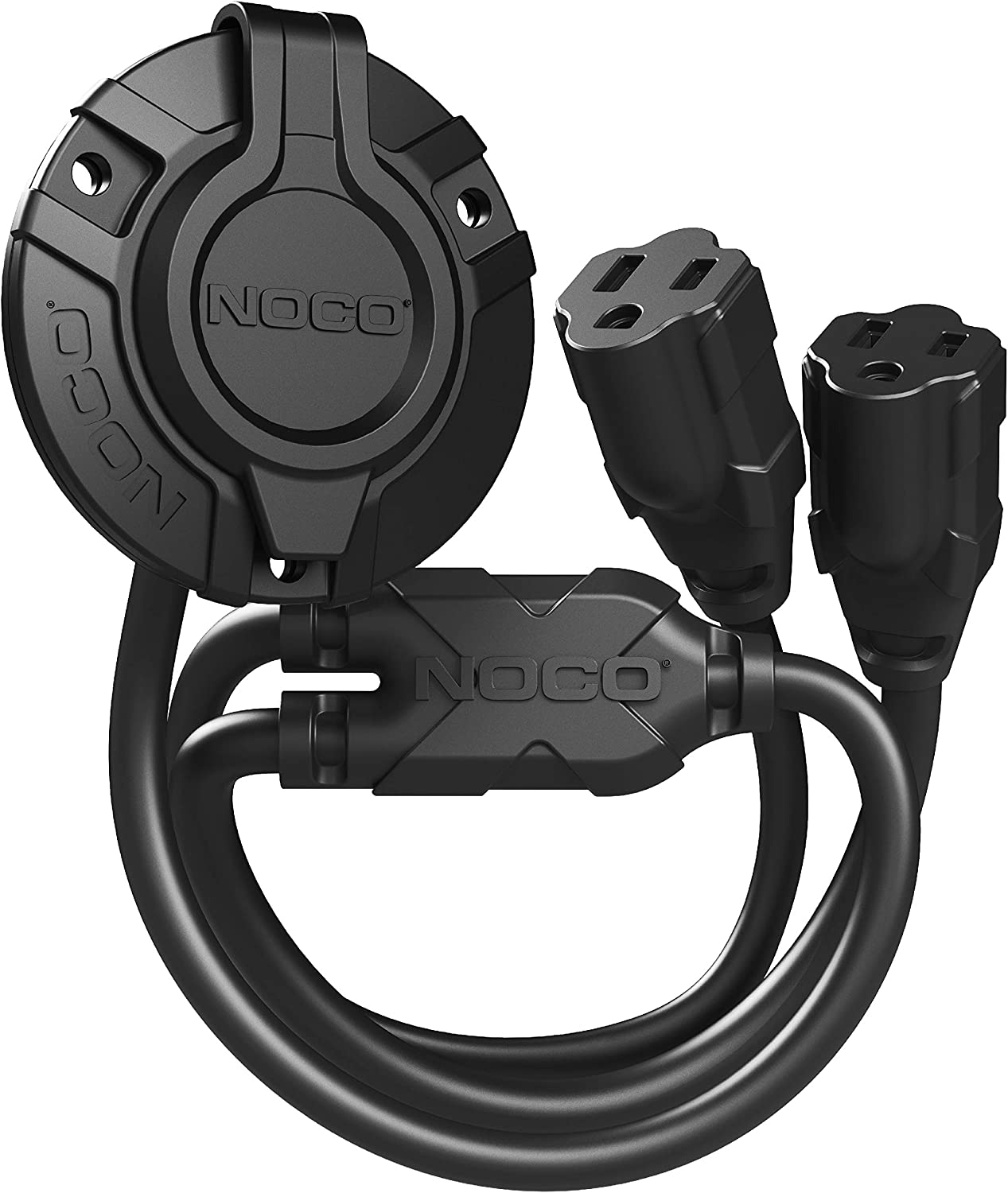 NOCO GCP2 15 Amp 125V AC Port Plug Power Inlet with Dual 18-Inch Integrated Extension Cords: Automotive