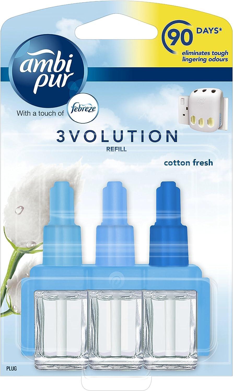 Ambi Pur 3Volution - Recambio para ambientador (algodón, 20 ml ...