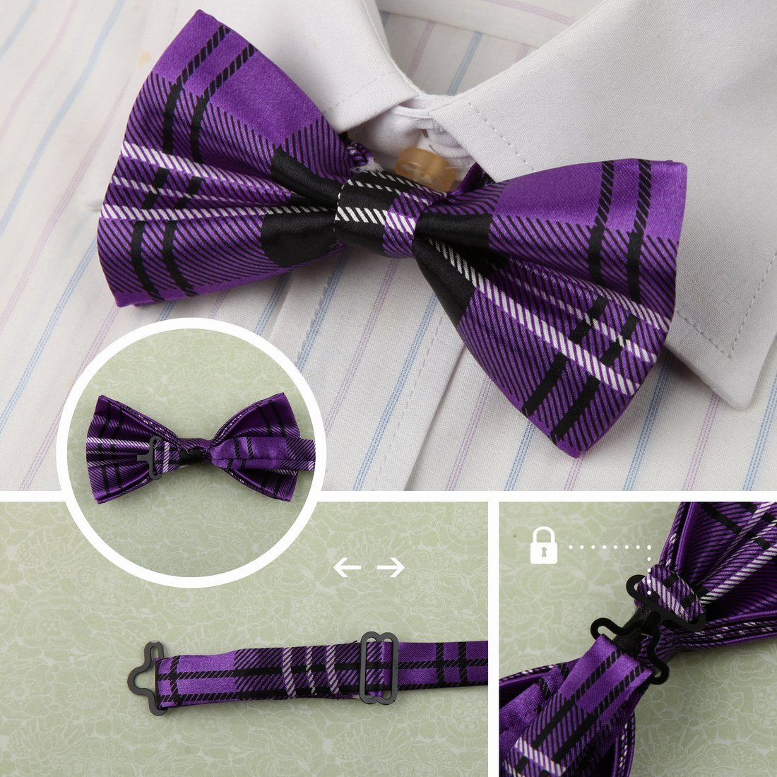 Dan Smith Mens Fashion Multi-color Great Fashion Bow Ties Set 5in1 With Free Gift Box