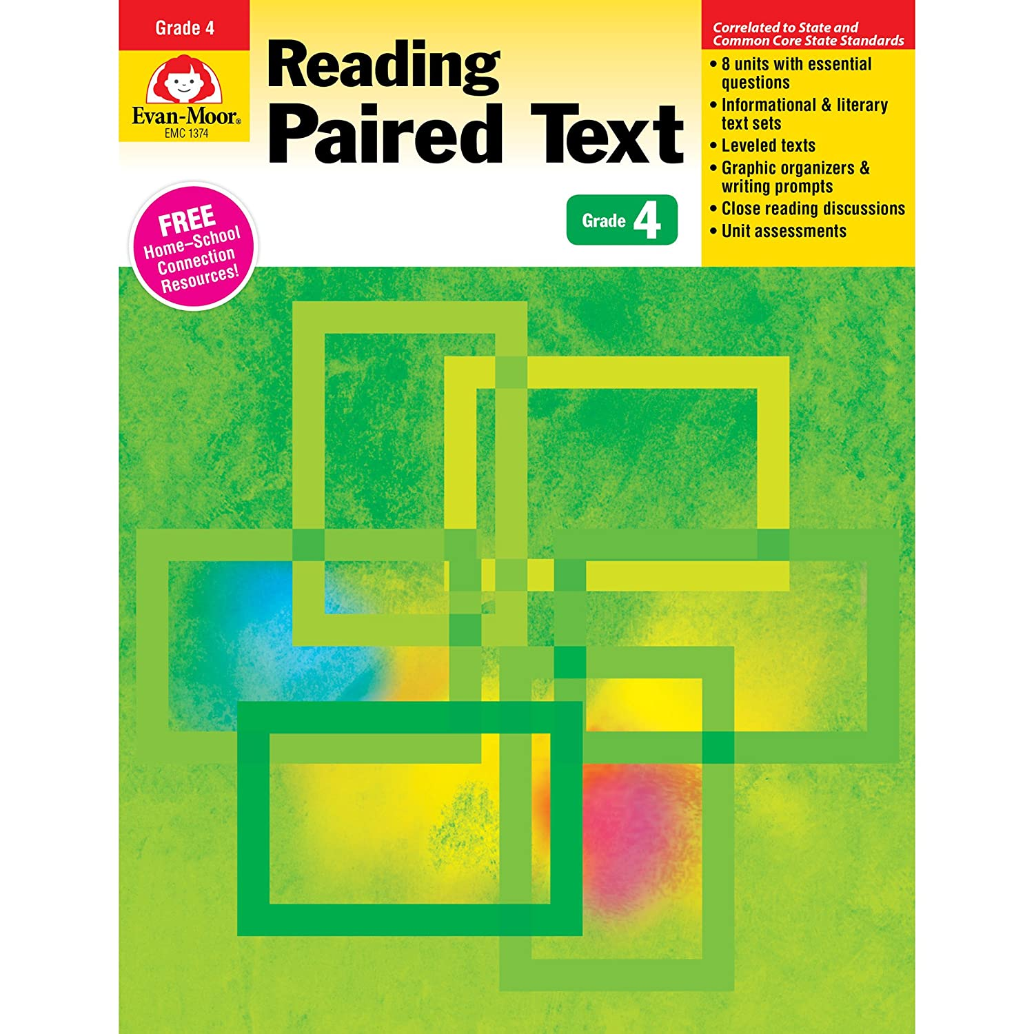 Evan-Moor Reading Paired Text: Common Core Mastery Book, Grade 4