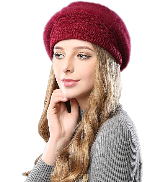 74b59e639220b Alleza Boinas Francesa Sombreros de Mujer Lana Vintage Fiesta Invierno  Gorro Caliente Beret Francés Beanie Cozy Forro Polar  Amazon.es  Ropa y  accesorios