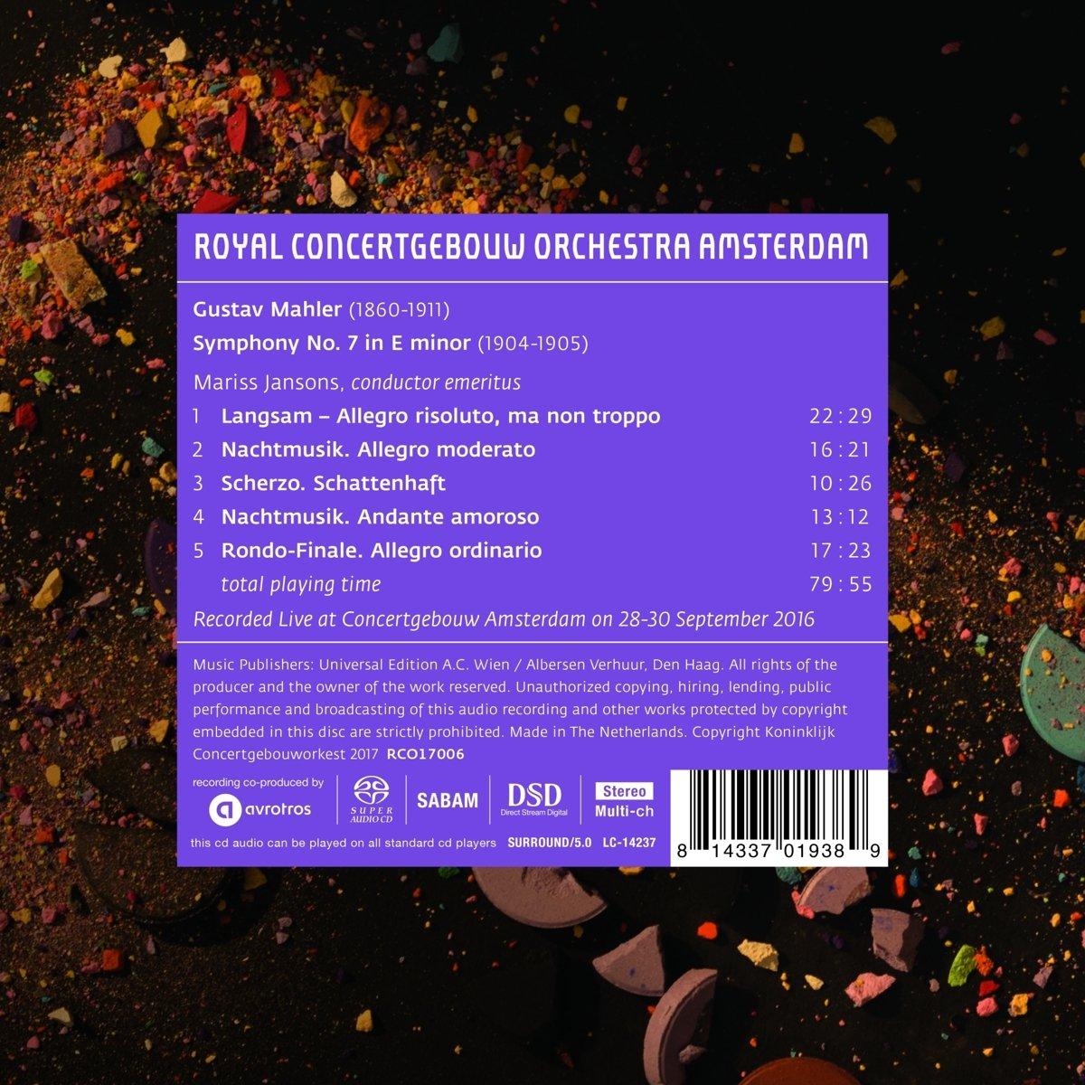 Royal Concertgebouw Orchestra, Gustav Mahler, Mariss Jansons