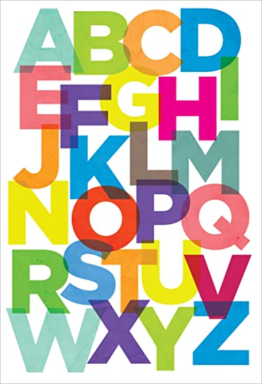 Kids Room Posters ABCD (Non Tearable Synthetic Material) Poster- P088
