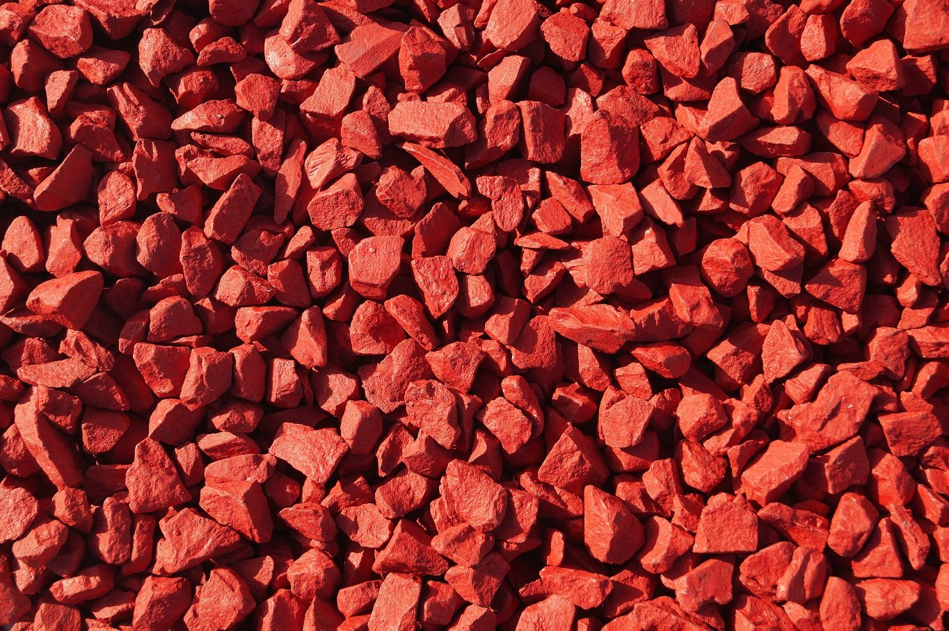RockinColour Chilli Red Large Pack decorative garden stone