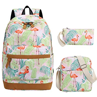 44a4c26f3d0c Image Unavailable. Image not available for. Color  School Backpack Girls  Bookbag set Cute School bags fit 15 inch Laptop ...