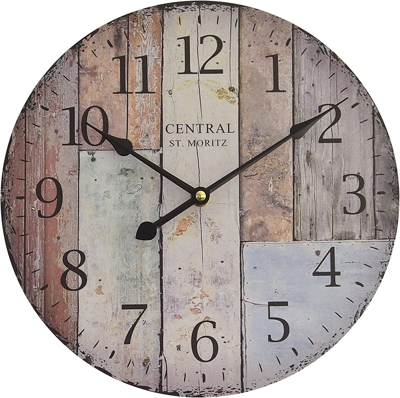 vintage design  circa /Ø 28 cm rose Orologio da parete Legno Perla PD Design orologio da cucina