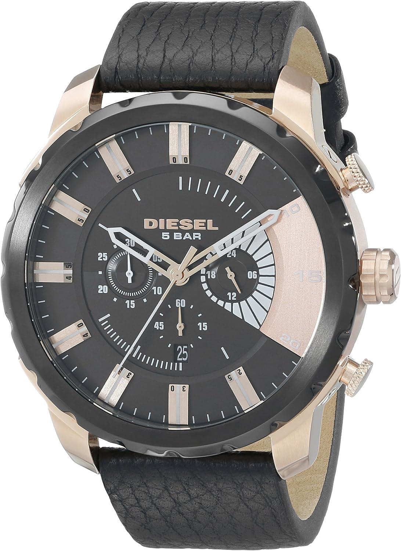 Diesel Men s DZ4347 Stronghold Analog Display Analog Quartz Black Watch