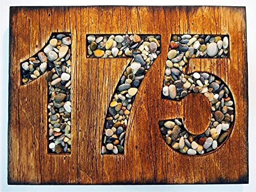 Hand Painted Wooden Home Sign Plaque Wall Decor New Home Housewarming Gift Gold