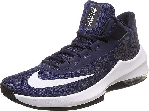 Nike Herren AIR MAX Infuriate 2 MID Basketballschuhe, schwarz, EU