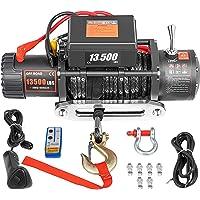 VEVOR Elektrische lier 13,500 lbs / 6123,5 kg 12 V met 27 m touw, elektrische lier met draadloze afstandsbediening…