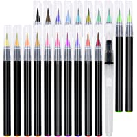 21-Set Artademy Soft Brush Pens Watercolor Markers with Flexible Brush Tips (multiple colors)
