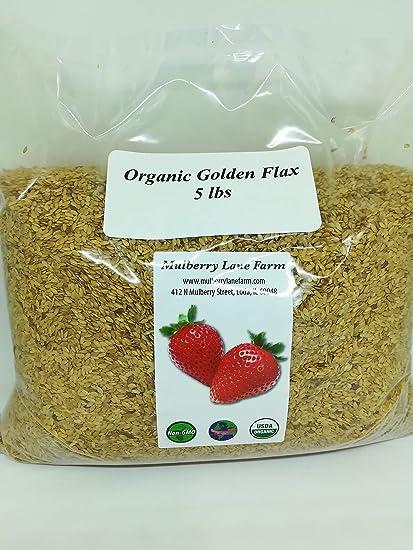 Semillas de lino dorado (semillas de lino) 5 lb (5 libras ...