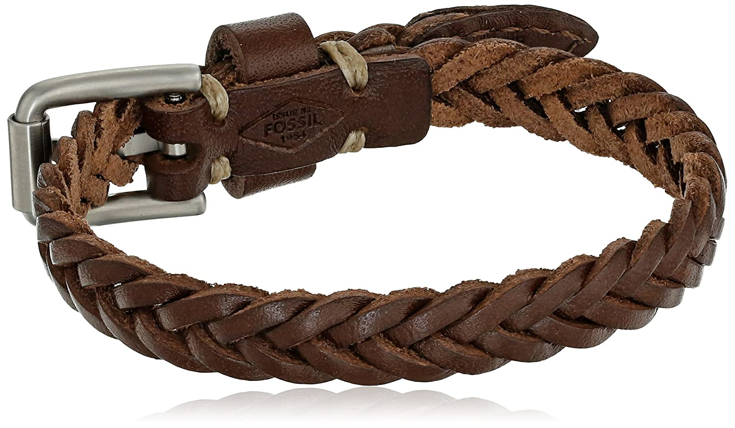 Fossil Vintage Casual Braided Leather Bracelet