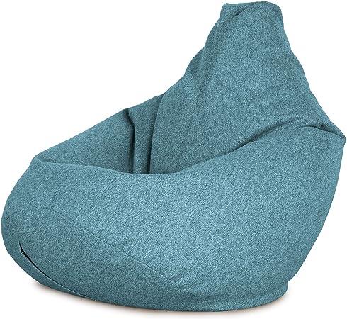 Lounge Pug® Interalli Bean Bag Chairs HIGHBACK Gaming Chair Beanbag UK AQUA BLUE