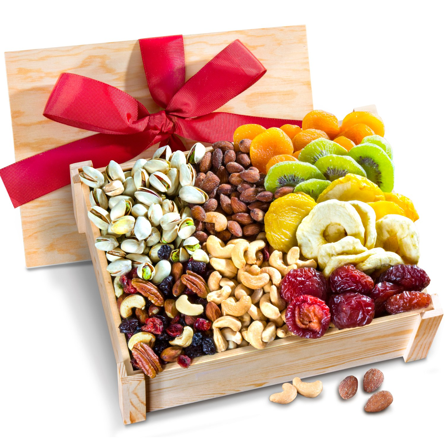 Golden State Fruit Healthy Abundance Dried Fruit & Nuts Gift Crate by Golden State Fruit (Image #1)