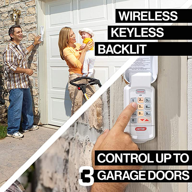 Genie Garage Door Opener Wireless Keyless Keypad - Safe & Secure Access