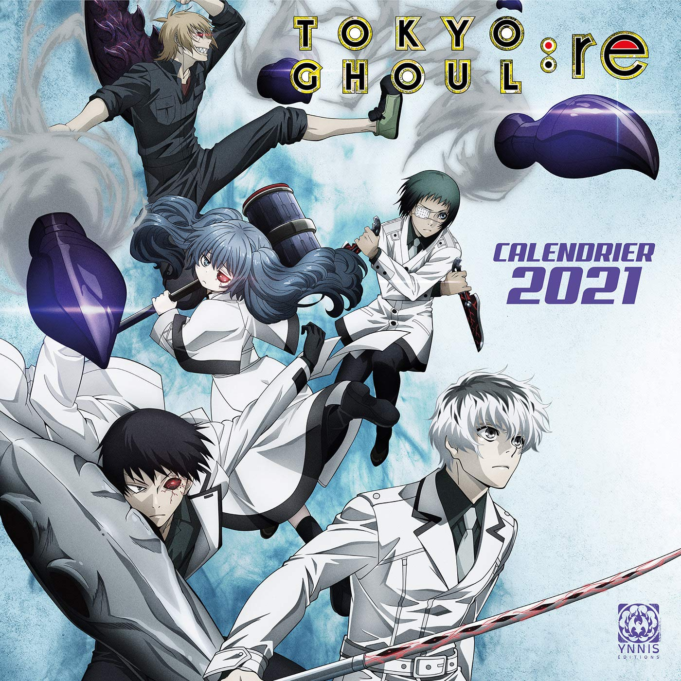 Calendrier 2021 Tokyo Ghoul:re (French Edition): 9782376971610