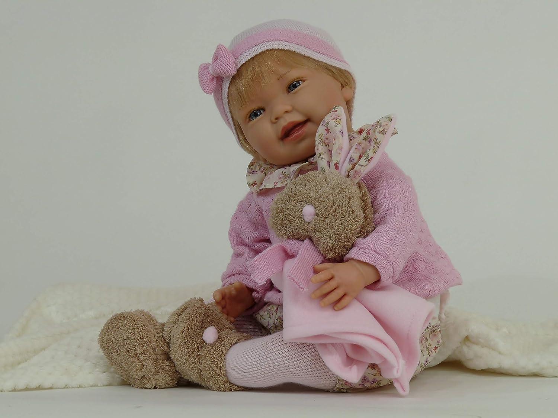 Muñeca Tita Reborn con accesorios, preciosa muñeca con un peso aproximado de 2kg y con cuerpo articulado.