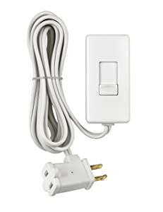 Leviton TBL03-10W Tabletop Slide Control Lamp Dimmer, 300-Watt, White