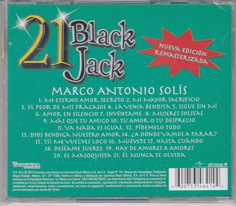 Marco Antonio Solis 21 Black Jack CD - Marco Antonio Solis 21 Black ...