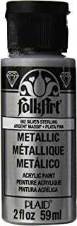 product image for FolkArt Metallic Acrylic Paint in Assorted Colors (2 oz), 662, Silver Sterling