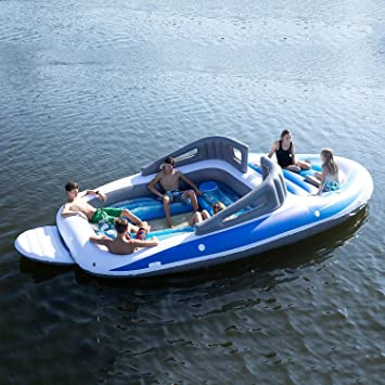 6 Person Inflatable Bay Breeze Boat Island Party Island
