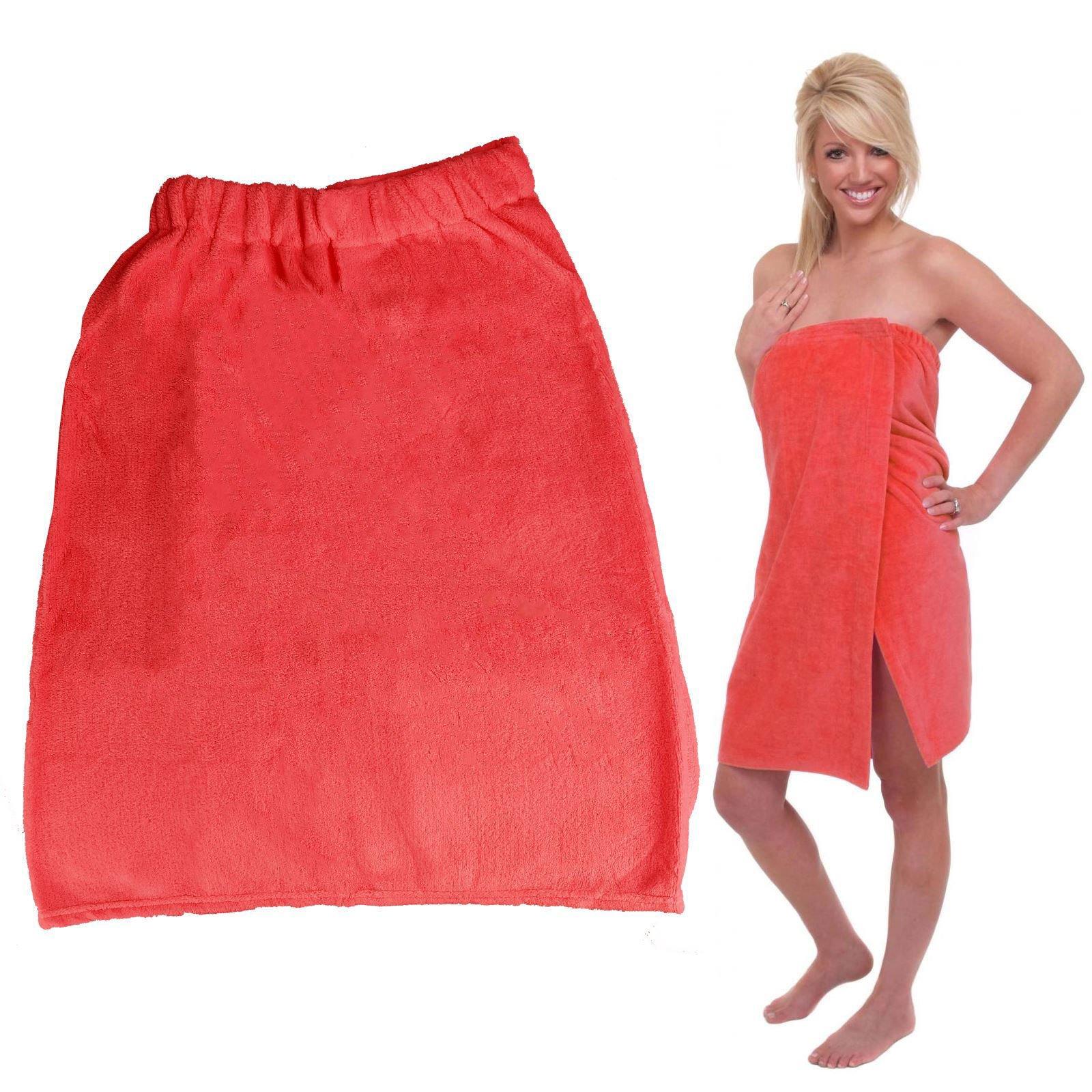 UNAKIM--Ladies Bath Towel Super Soft Shower Spa Wrap Velcro Closer Womens Beach Cover Up