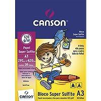 Bloco Sulfite A3 120g/m² , Canson, 66667094, Super, 30 Folhas