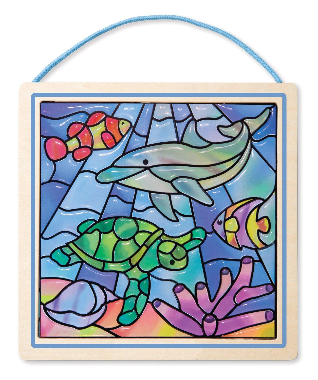 amazon com melissa u0026 doug peel and press stained glass sticker