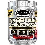 MuscleTech MyoBuild 4X Amino BCAA, Fruit Punch, 332 grams