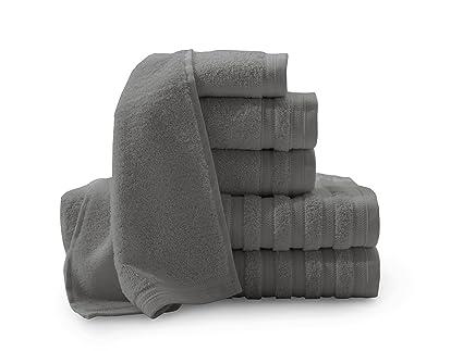 Baltic Lino Company Pure Elegance 100% algodón Turco 6 Piezas Toalla de Lujo Set,