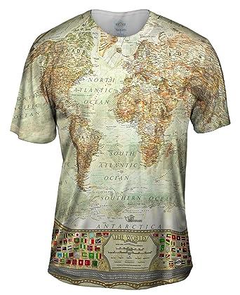 Amazon yizzam ash world map tshirt mens shirt clothing yizzam ash world map tshirt mens shirt x small gumiabroncs Gallery