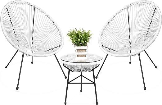 Best Choice Products Acapulco - Juego de muebles de jardín de 3 ...