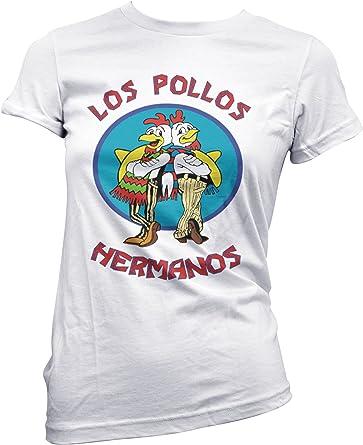 LaMAGLIERIA Camiseta Mujer Los Pollos Hermanos Camiseta Breaking Bad 100% Algodon: Amazon.es: Ropa y accesorios