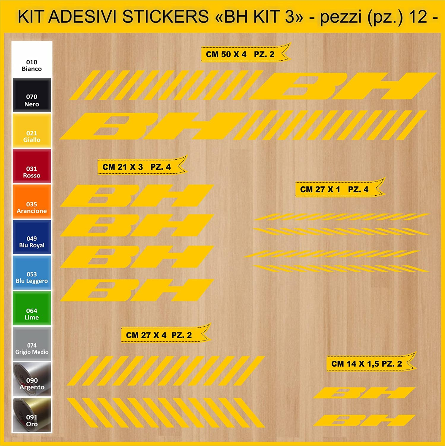 Kit Pegatinas Stickers Bicicleta BH - Kit 3-12 Piezas- Bike Cycle ...