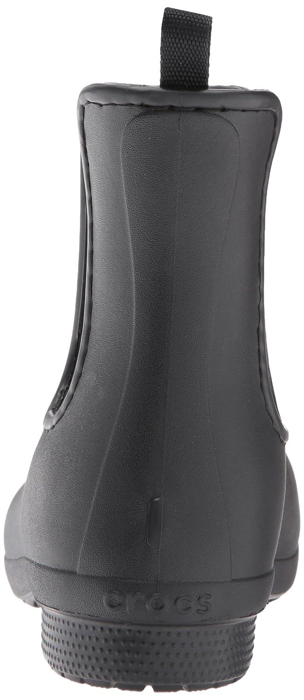 Crocs Women's Freesail Chelsea Rain Boot B01MT02QJ3 8 B(M) US Black/Black