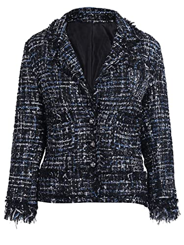 Simplee mujer traje de botones corto otoño Casual Blazer chaqueta de abrigo