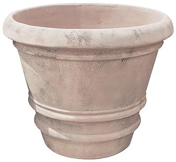 Vasque lisse et vieilli en terre cuite toscane diam.70x60 cm: Amazon ...