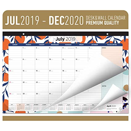 December 2020 Cal 18 Calendar Amazon.: Oriday Academic Desk Calendar 2019 2020   Monthly
