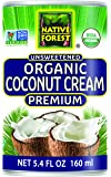 Native Forest Organic Premium Coconut Cream, Unsweetened, 5.4 Ounce Can