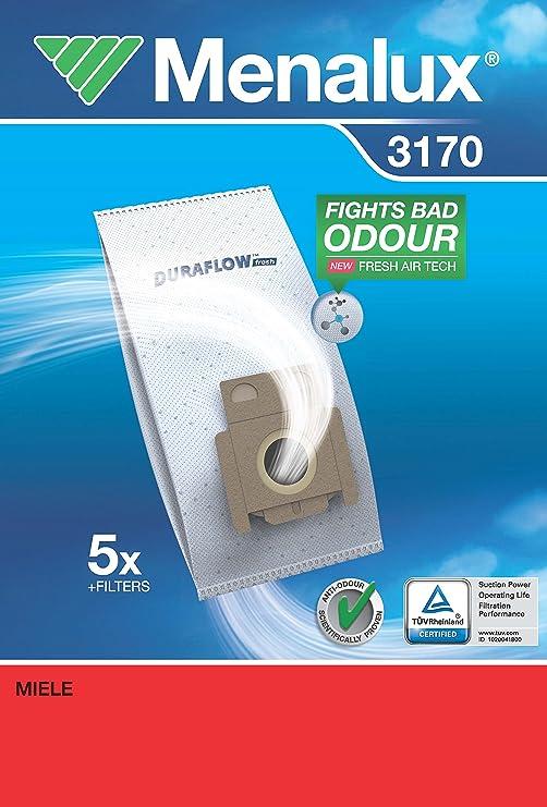 Menalux 3170 Duraflow - Bolsas para aspiradoras Miele (5 unidades): Amazon.es: Hogar