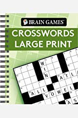 Brain Games - Crosswords Large Print (Green) Spiral-bound