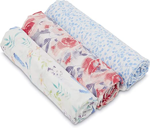 Festival aden anais Silky Soft Swaddle White Label Baby Blanket