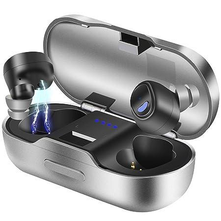 Bluetooth Kopfhörer, BEVA Kabelloses Headset in Ear Bluetooth 5.0 Headset True Wireless Kopfhörer IPX7 Wasserdicht Sport Kopf